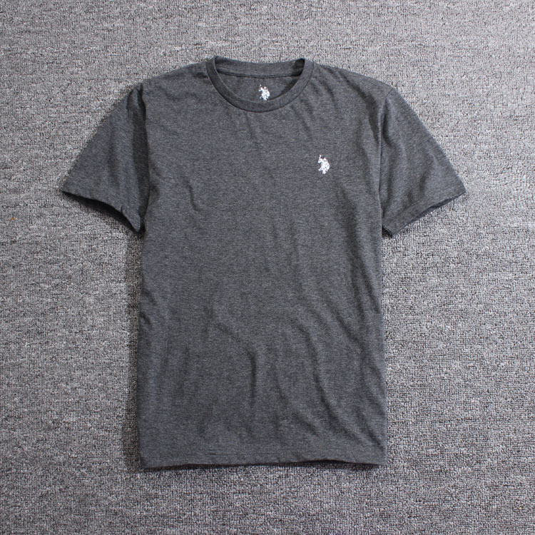 Foreign trade new summer thin mens solid color short sleeve T-shirt youth round neck gym sports trend bottomed shirt