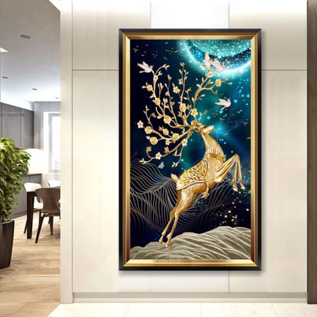 Stair entrance dress hall European style decorative painting entry fresh flower shop physical corridor general manager office hanging corridor
