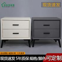 北欧床头柜现代简约卧室家具实木脚简易储物抽屉收纳柜时尚床边柜