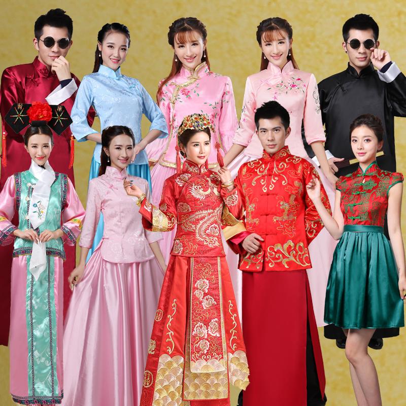 Десять в персик древний наряд аренда китайский стиль подружка невесты одежда спутник мужчина одежда ясно к принцесса одежда китайский одежда студент производительность одежда депозит