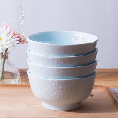 釉下彩,雅诚德 日式家用瓷碗饭碗4.5吋*4个装