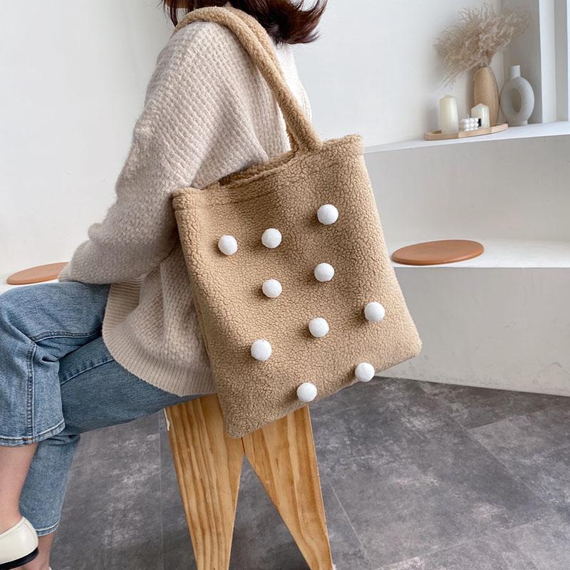 羊羔毛包包仙女包秋冬新款2019大容量单肩毛绒手提包女气质女神潮