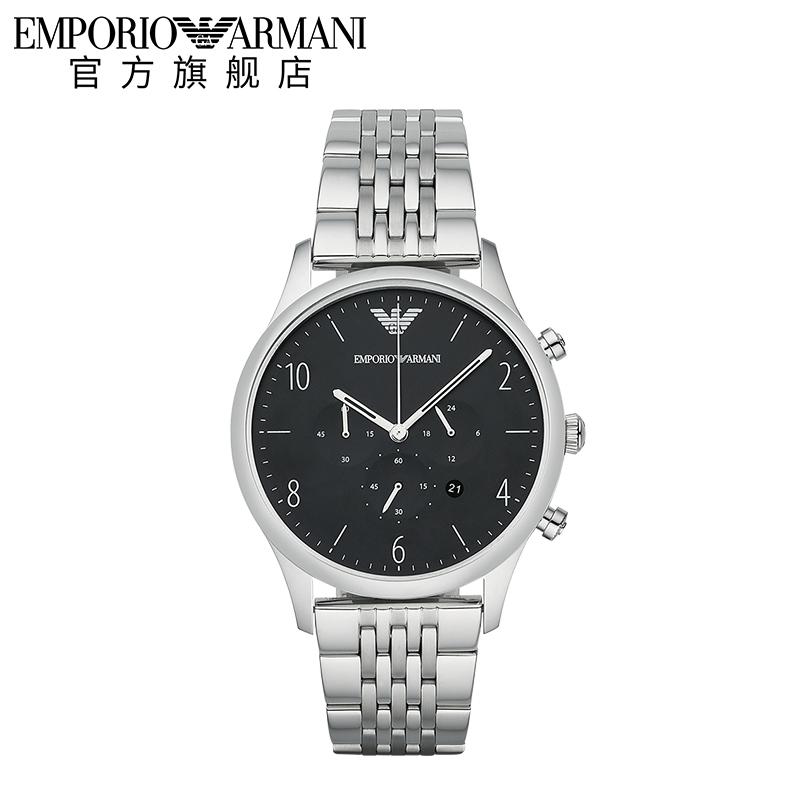 【预售】Armani阿玛尼手表官方旗舰店正品钢带商务男石英表AR1863