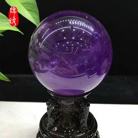 纯天然原石正品紫水晶球招财聚财镇宅化煞辟邪安宅摆件图片