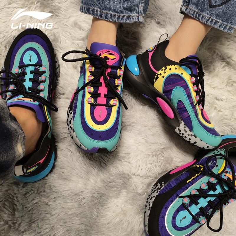 中国李宁V8男女跑鞋2021春季走秀款网面透气休闲鞋运动鞋 ARHP128