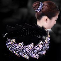 丸子头发饰韩国盘发头饰品花苞头盘发神器水钻成人发卡发圈发夹女
