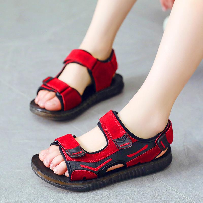 男童凉鞋2018新款真皮软底韩版儿童沙滩鞋夏季中大童鞋小男孩凉鞋