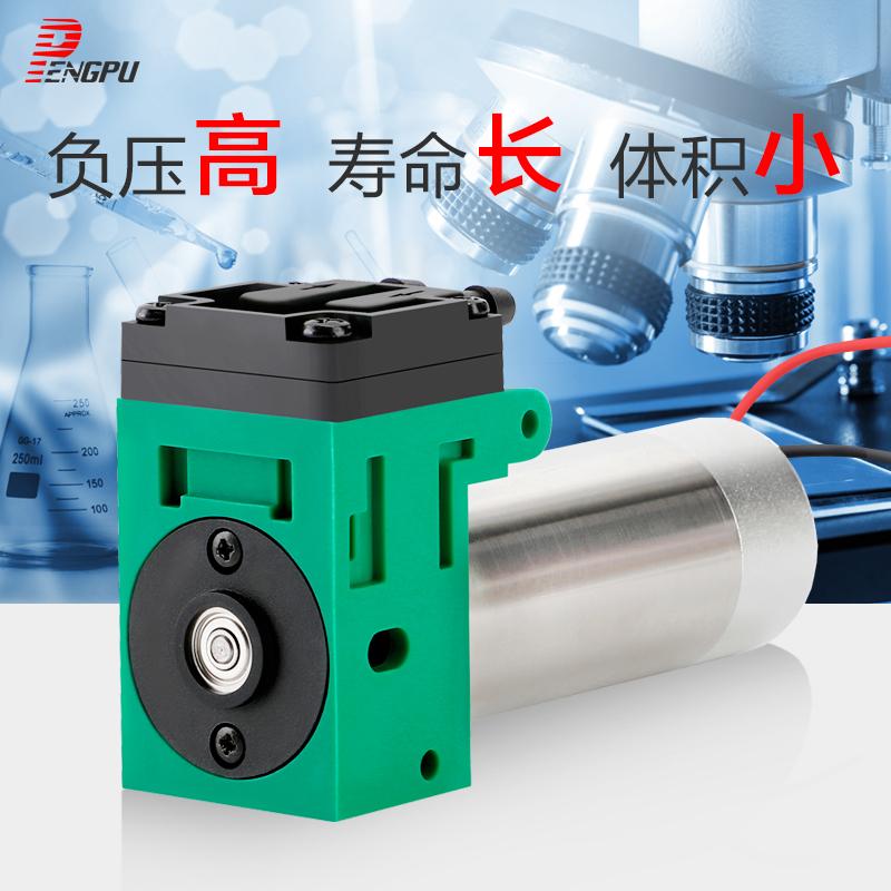 微型真空泵12v负压泵气体分析采集泵隔膜泵打气泵电动24v小型蓬普