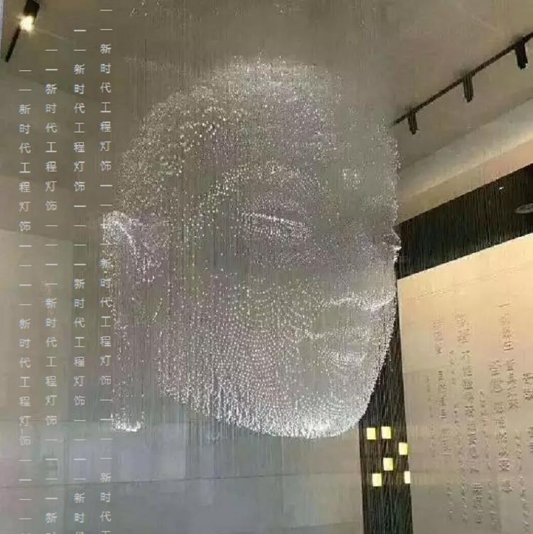 led水晶大吊灯创意装饰品别墅酒店大堂吧台沙盘餐厅吊线工程灯具