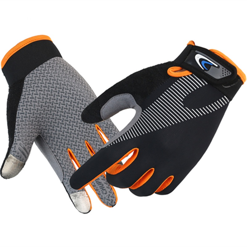 Antiskid gloves Park crawling fitness wear resistant ground running womens sports training thickened breathable winter touch screen tide