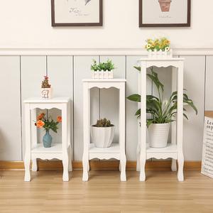 欧式实木花架落地式特价单个省空间阳台室内客厅吊兰花盆多层架子