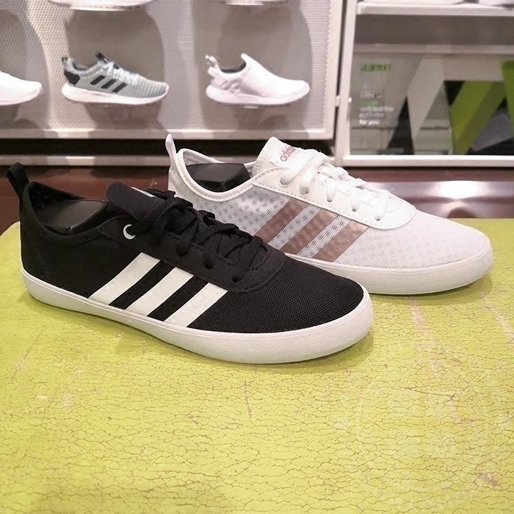 阿迪达斯NEO女鞋QT VULC 2.0运动网面透气休闲板鞋 BD7823 DB1386图片