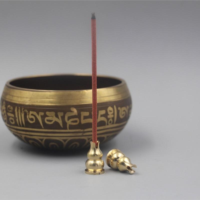 黄铜小葫芦香插香座线香盘香炉陶瓷金属木质香具配件日用家居饰品