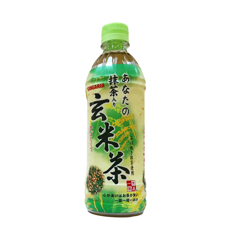 Japanese imported food and beverage Sangria xuanmi tea brown rice tea Matcha beverage bottle 500ml