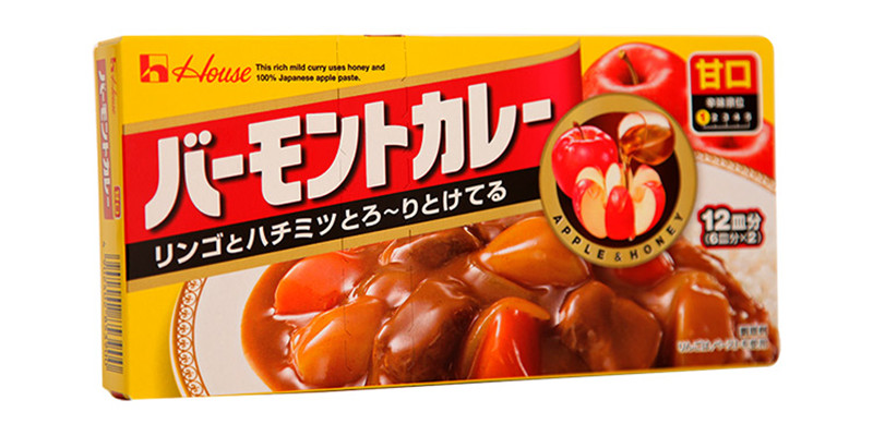 Quick food, curry vegetable sauce, imported from Japan 210g sweet curry block sauce paste, bibimbap