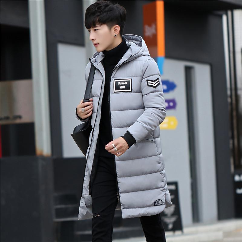 冬季羽絨棉服男士棉衣中長款韓版潮帥氣連帽大棉襖男青年冬裝加厚