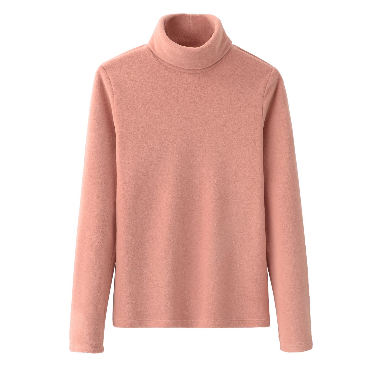经典款秋冬春季女摇粒绒打底衫上衣双面绒高领套头T恤保暖修身