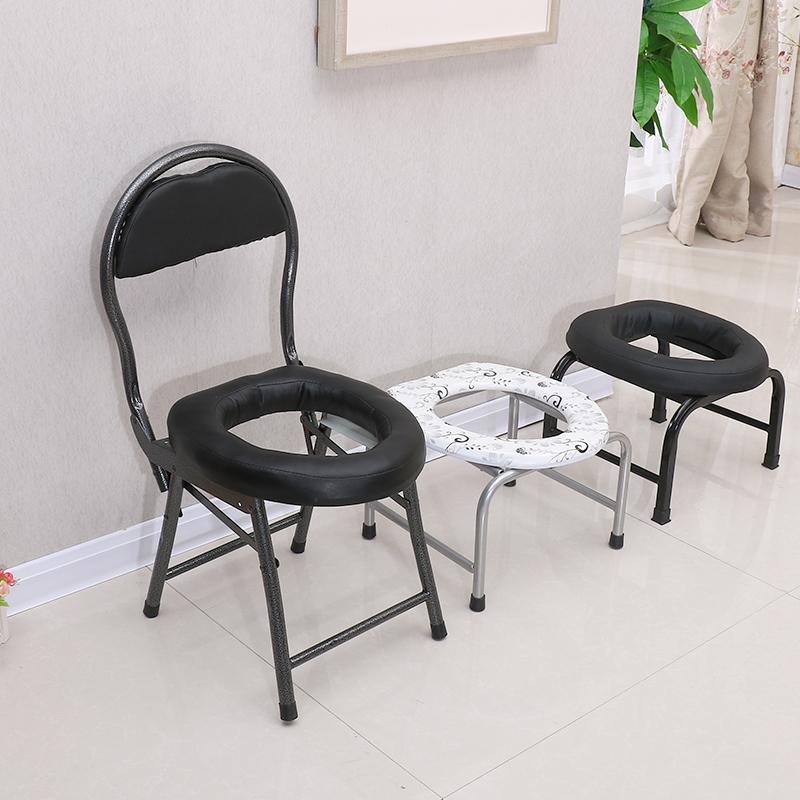 Скольжение складные старики мелкий стул мелкий табуретка беременная женщина туалет пластик туалет приземистый туалет табуретка болезнь npc затем стул