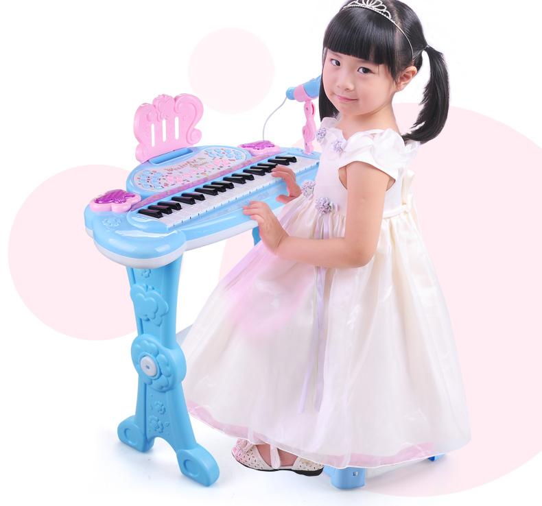 满166.00元可用1元优惠券麦克风女孩玩具早教启蒙宝宝电子琴