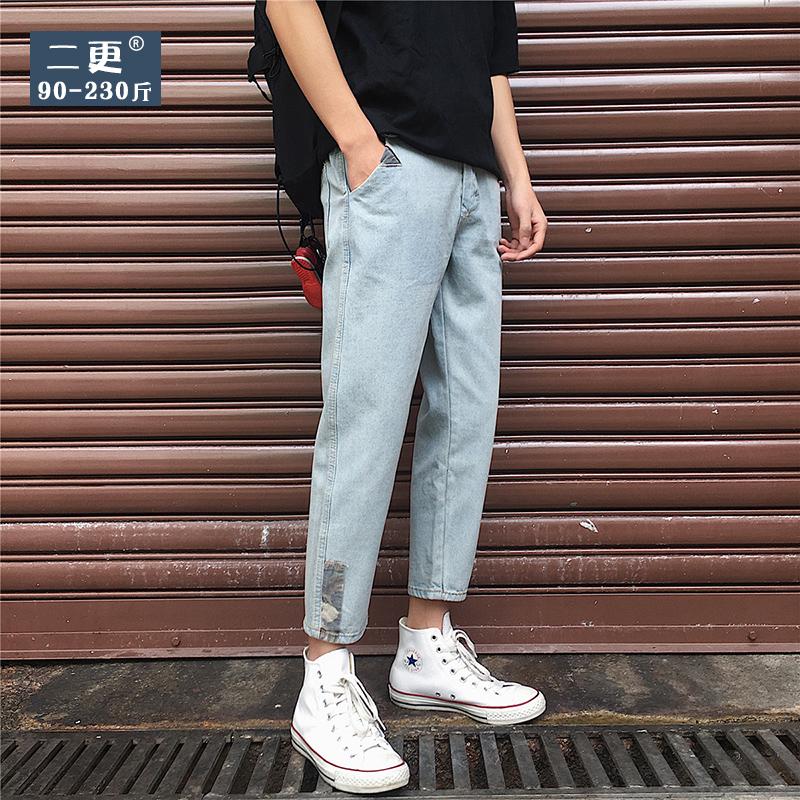 11月28日最新优惠夏季加肥男士浅色直筒裤韩版休闲裤