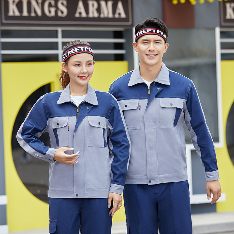 Gas station gas station long sleeve autumn and winter maintenance clothes long sleeve maintenance with lining engineering clothes uniform electrician welder