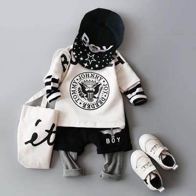 童装婴儿秋装套装帅气男宝宝婴幼儿外出服0-1-2-3岁男童潮装洋气4