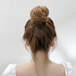 碎发发夹边夹刘海夹黑色夹丸子头一字顶夹发卡成年女夹子固定头发