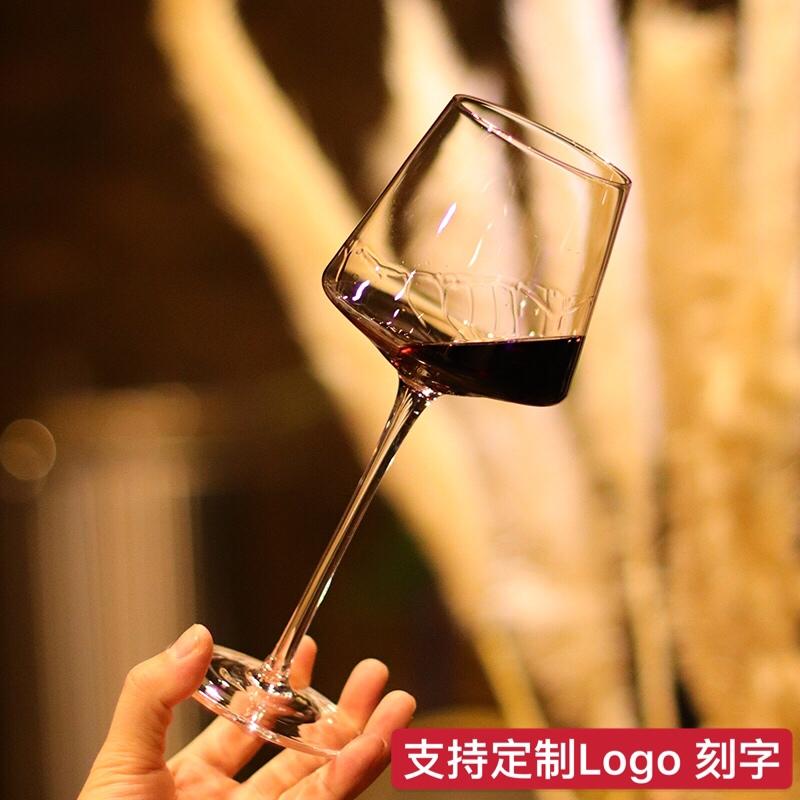 红酒杯子高脚杯定制创意欧式无铅水晶葡萄酒杯醒酒器杯架酒吧套装