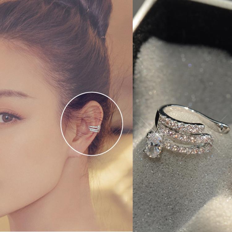 甜美气质女韩国简约时尚个性耳骨夹小饰品耳环耳夹无耳洞女