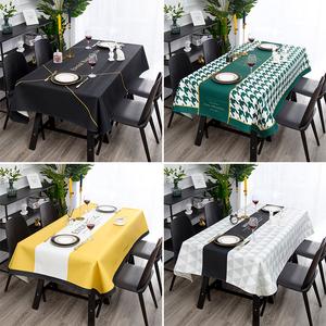 现代北欧风格简约棉麻桌布长方形台布圆桌方桌防尘盖布防水茶几布