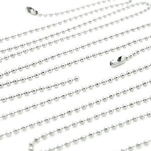 新款钢圆珠链不锈钢项链男不锈钢珠链球链圆球吊坠配链 项链配件