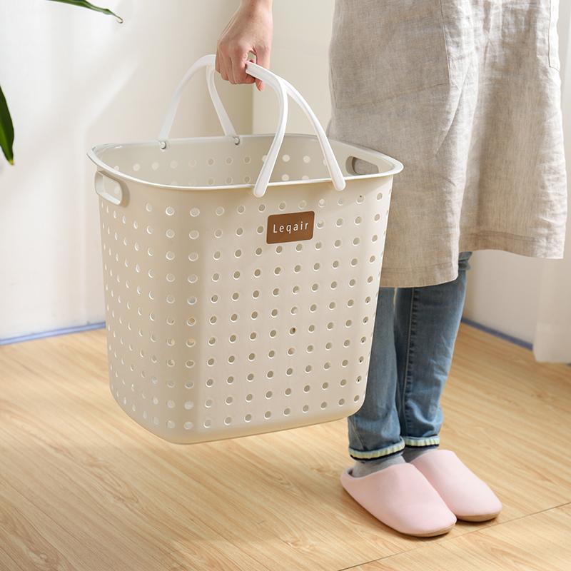 脏衣服收纳筐日本进口家用塑料脏衣篓洗衣篮衣服收纳筐玩具收纳筐