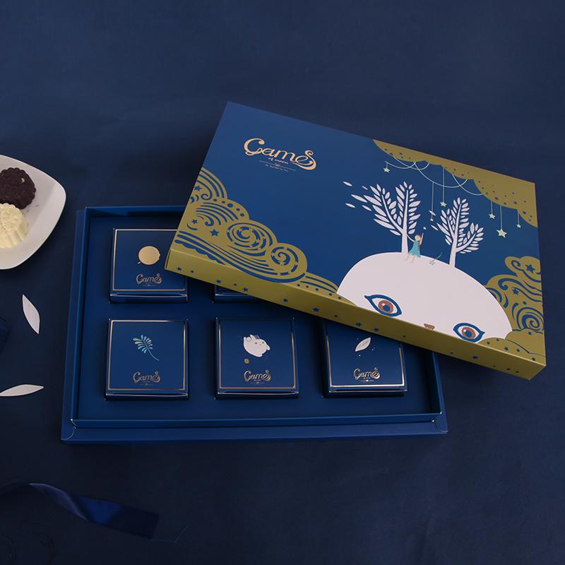 Оригинал творческий мультики сложить подарок праздник середины осени фестиваль литература и искусство месяц пирог коробка еда подарочная коробка ритуал физическая коробку