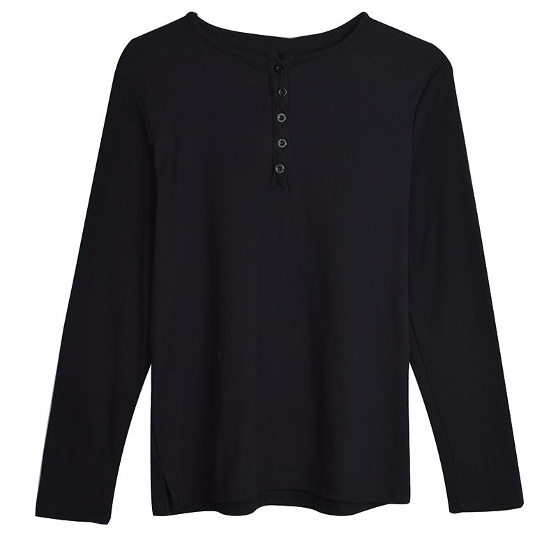 春季2019学生韩版新款打底衫上衣宽松显瘦螺纹纯色长袖T恤女装潮