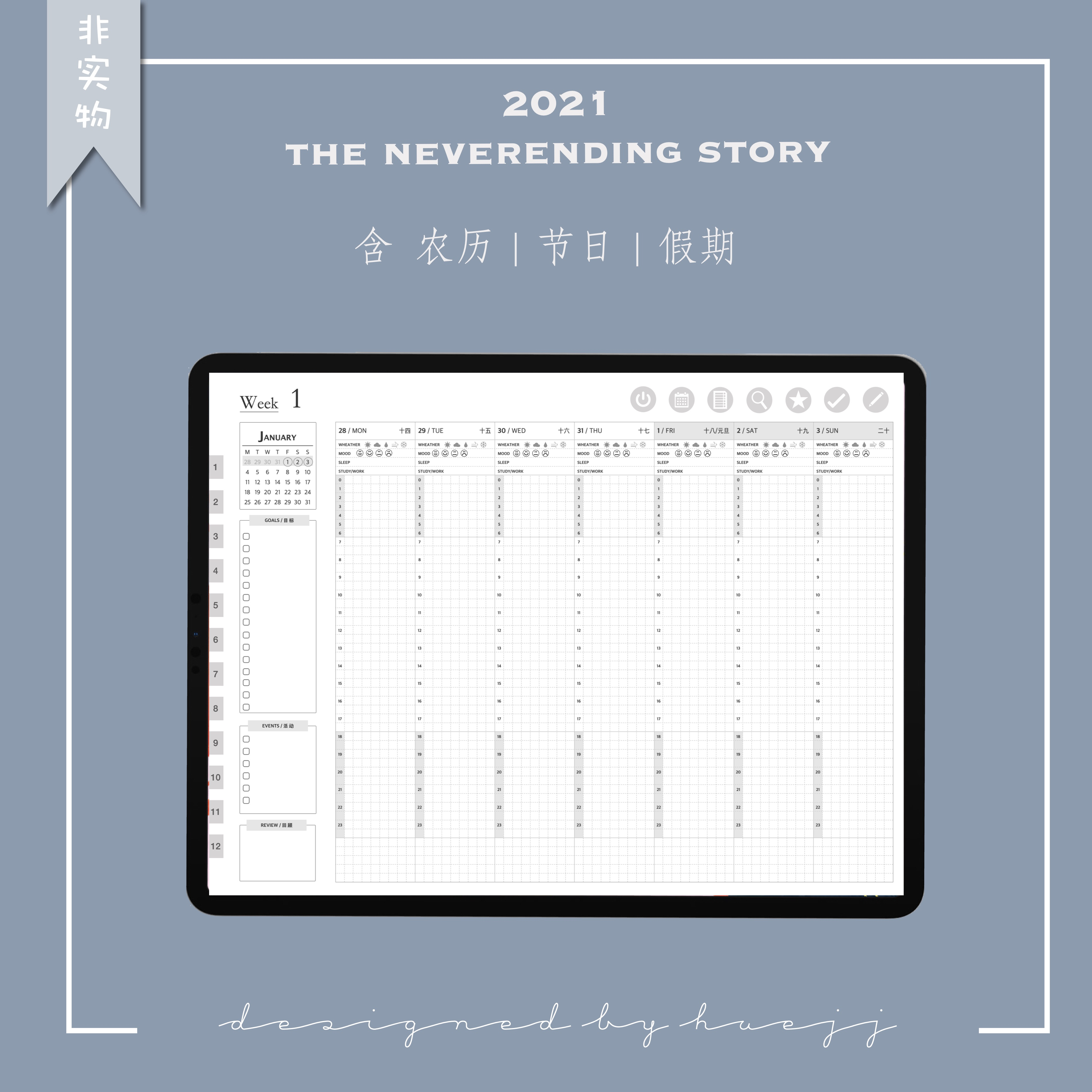 Electronic manual account template / endless stories in 2021 / goodnotes / notability