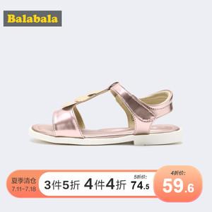 巴拉巴拉女童凉鞋2019中大童鞋子