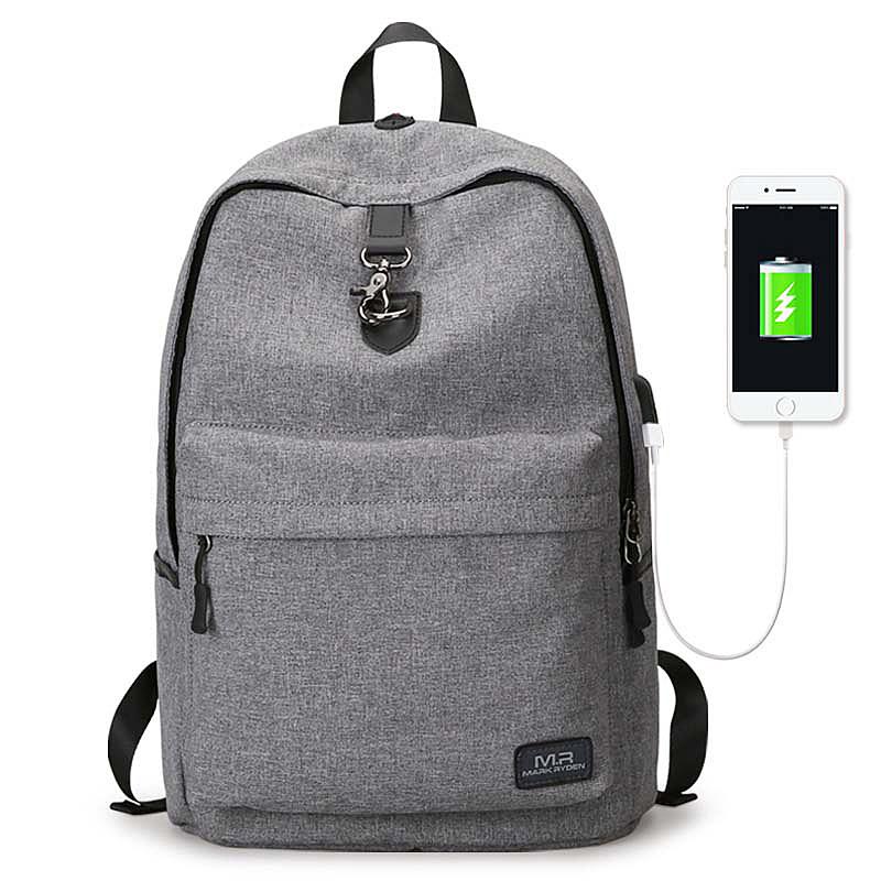 背包男士新款学生书包简约休闲电脑旅行包时尚潮流双肩包
