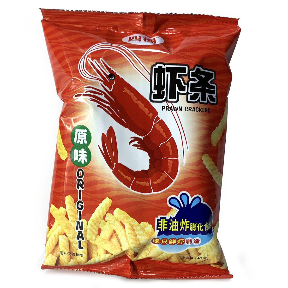 四洲原味虾条40克焙烤型膨化食品非油炸香脆虾片小吃零食新日期