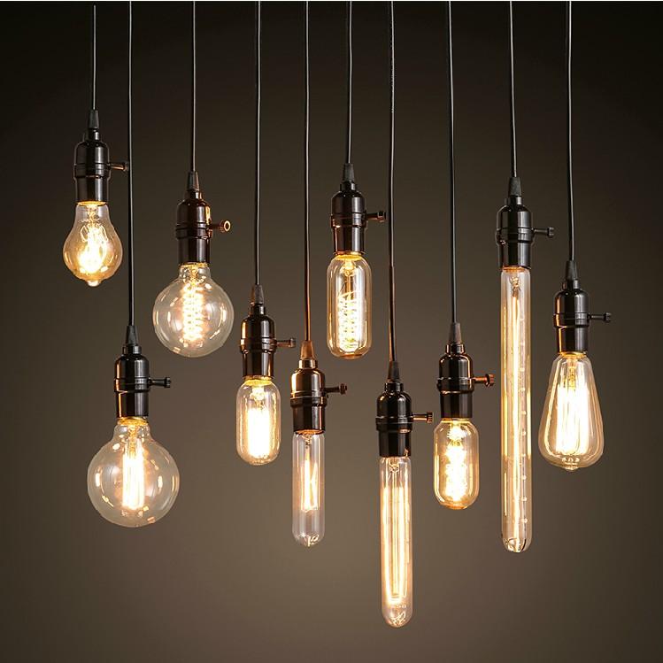 loft创意个性吧台服装店复古灯泡美式工业酒吧咖啡餐厅装饰小吊灯