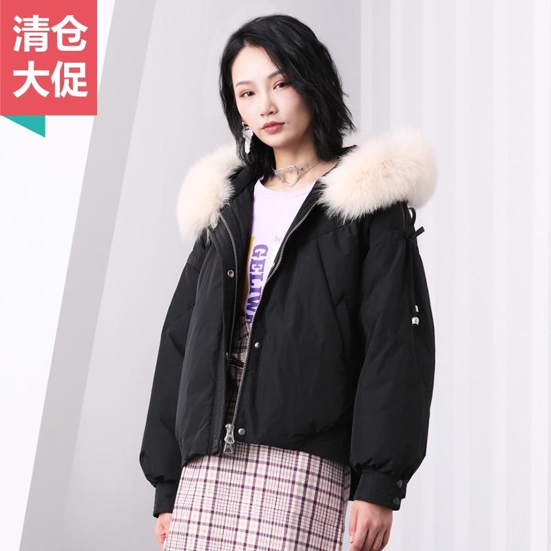 羽绒服女短款2018冬季新款韩版宽松90白鸭绒加厚保暖面包服外套潮