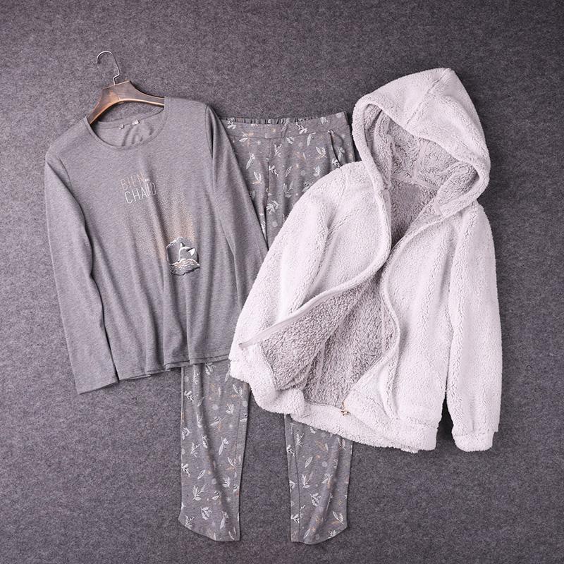【妹纸家居三件套】一定别错过!法国舒适好穿秋冬家居服睡衣套装