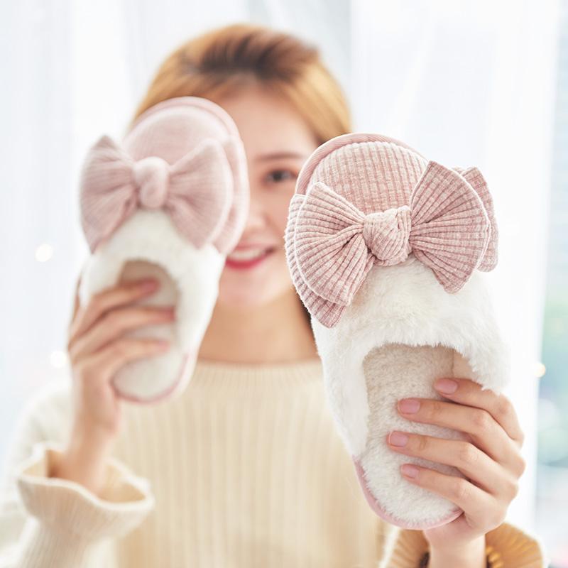 女冬室内居家防滑家用情侣不棉拖鞋限9000张券