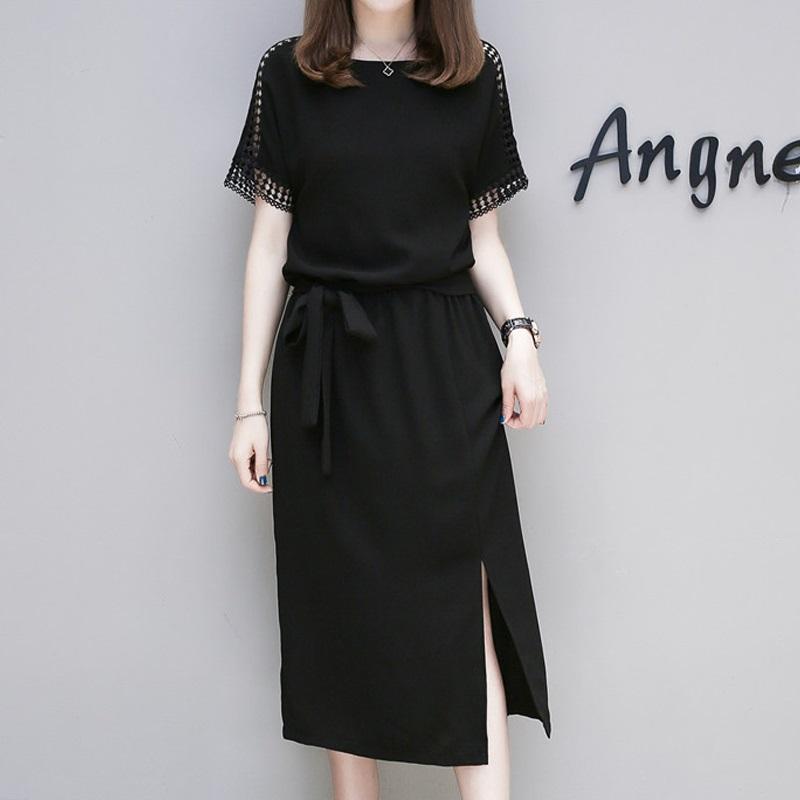 2018夏装新款大码女装胖mm公主胖妹妹藏肉遮肚子显瘦收腰连衣裙子