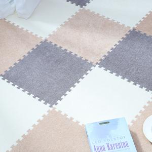 ㊙泡沫地垫拼接爬爬垫卧室绒面榻榻米地板垫子爬行垫儿童地毯垫30