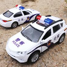 兒童仿真寶馬警車合金車模型男孩寶寶迷你小汽車警察車回力玩具車