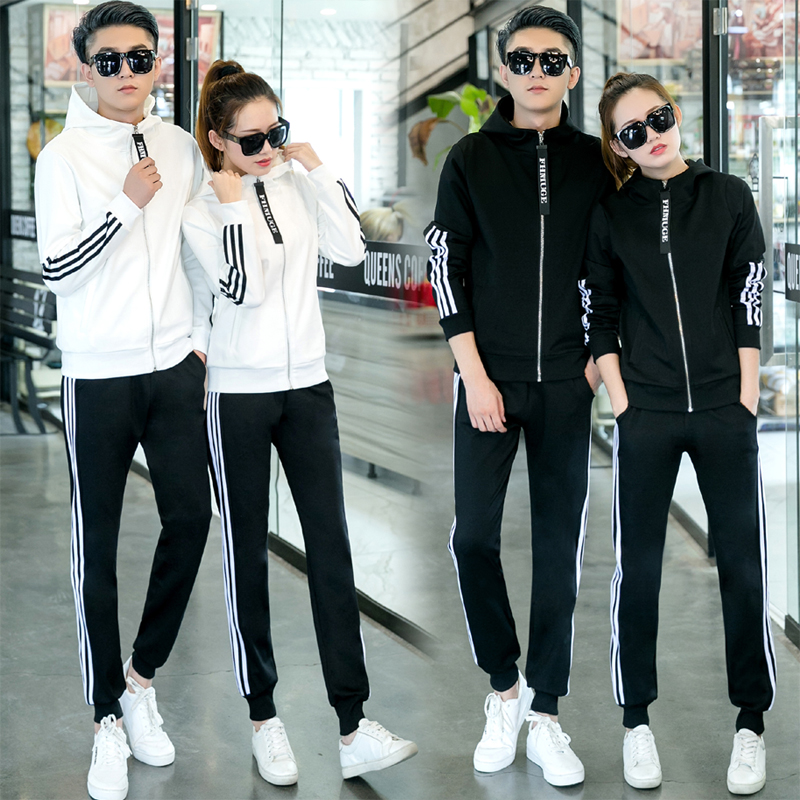 Spring and autumn 2020 new couples casual sportswear for men and women
