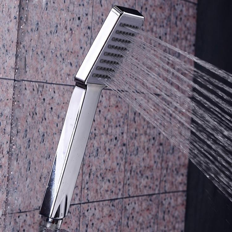 手持方形花洒家用热冷洗澡水单洒喷雨软管淋喷头浴头通用淋浴套装