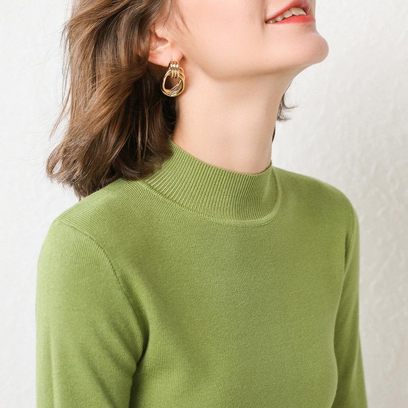 【反季清倉】高領毛衣女羊絨衫秋冬新款女半高修身打底衫羊毛衫