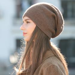 女冬羊绒韩版潮新款毛线青年针织帽