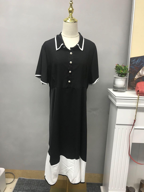 2020新款胖MM连衣裙宽松显瘦遮肚T恤裙